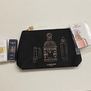 GUERLAIN makeup bag and accessories NWT